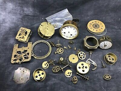 Set of Various Movements Parts Spares Clock Antique Pendulum Clock