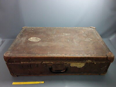 Antique Suitcase Trip Old Luggage French Antique Suitcase