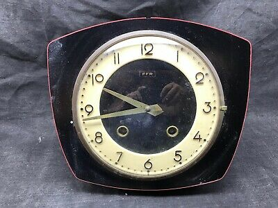 Antique Pendulum Cooking Ffr Mechanical, Black and Red Vintage Formica