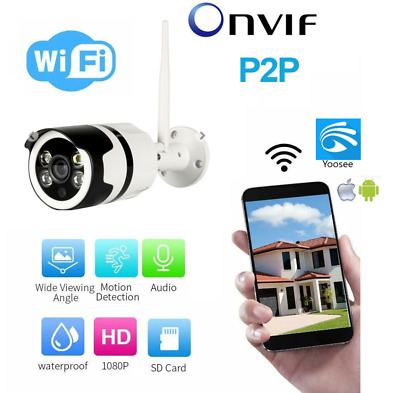 Telecamera Ip Cam Wifi Wireless Onvif 2Mpx Full Hd Infrarossi Audio Slot Sd Ethe