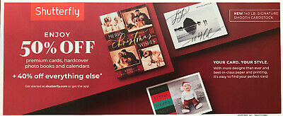 Shutterfly 50% Off Cards/Books/Calendars + 40% Everything Coupon Exp. 12/16/19