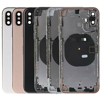 For iPhone XS Replacement Back Glass Housing Battery Cover Frame Assembly W/LOGO