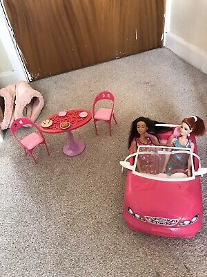 Barbie Glam Convertible Car & Doll Playset.