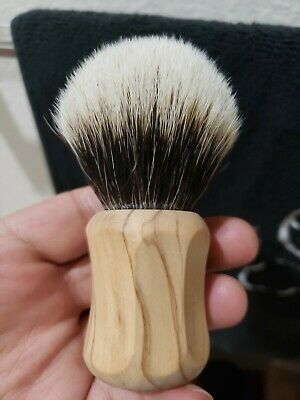Thater Wild Olive Two Band Silvertip Shaving Brush