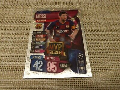 Topps Match Attax 19/20,Champions & Europa League, Mvp Lionel Messi 280