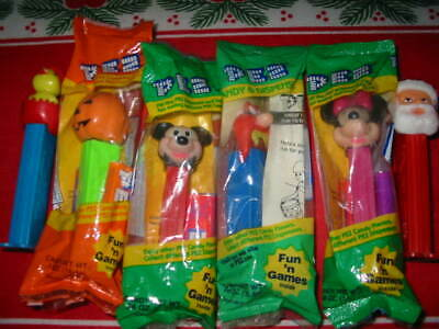 Vintage PEZ DISPENSERS w/candy MIXED LOT of 6