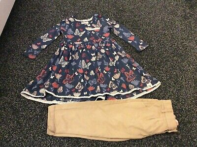 Girls long sleeve Mantaray Dress age 2/3 years & M&S Trousers
