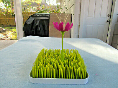 Boon Grass Baby Drying Rack, Bottles Etc. With Flower