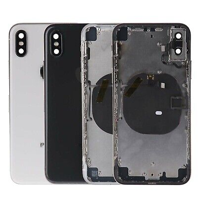 Replacement Back Glass Housing Battery Cover Frame Assembly For Apple iPhone X