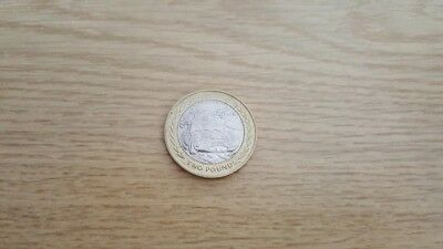 VINTAGE CAR RALLY £2 COIN RARE TWO POUND FIFTY ISLE OF MAN 1998 circulated