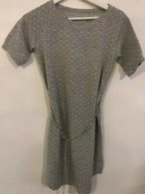 New Blush by Us Angels grey polka dot dress with chain belt girl's size 16y $50