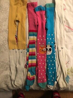 5 Pairs Girls Winter Tights Age 5-6, Boots & Leigh Tucker