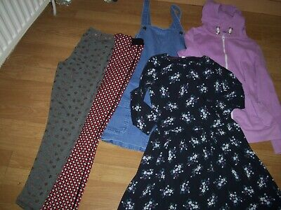 Girls winter bundle of clothing. Age 13-14 years.Dress, dungaree skirt,trousers+