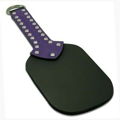 Leather and fur pleasure paddle - new