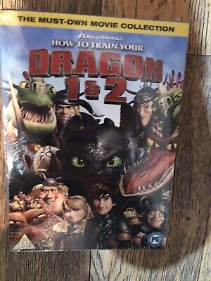 How To Train Your Dragon 1 & 2 Box Set DVD  New & Sealed