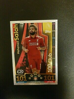 MATCH ATTAX  2018/19 18/19 Mohamed Salah 100 101 Club,  great Condition
