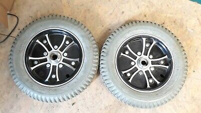 Days Volt Excel PAIR OF PUNCTURE PROOF WHEELS & TYRES  3-00-8 powerchair