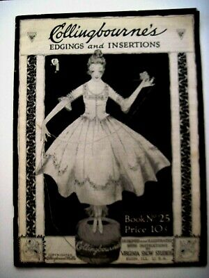"Vintage ""Collingbourne's Edgings and Insertions"" Booklet w/ Instructions  *"