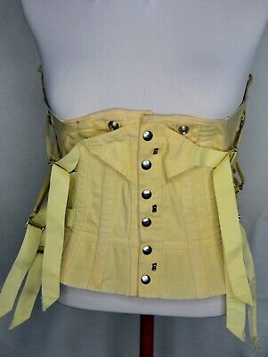 vtg corset steel supports buckles, string, snaps, hooks 1 size Steampunk Cosplay