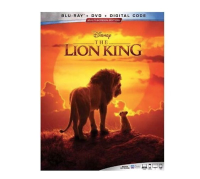 The Lion King Blu Ray & DVD 2019 Movie 2 Disc Set Walt Disney Live Action Glover