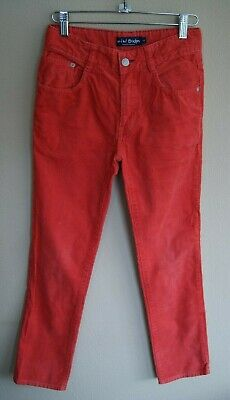 Mini Boden Orange Cotton Cord Trousers with Pockets Age 11 years