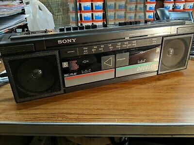 Sony CFS-W30 FM/AM Stereo Double Cassette Corder  Tested Working