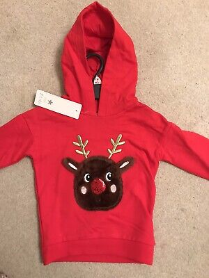 Baby Girl Boy Christmas Jumper Hoodie 18-24 Months 1.5-2 Years BNWT