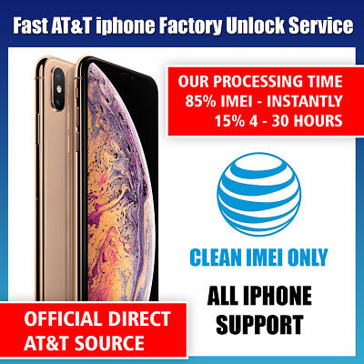 Premium SPEED FACTORY UNLOCK SERVICE AT&T CODE ATT for IPhone 5 5S 6 6s 7 8 X XS
