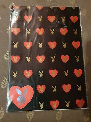 Playboy Valentine Black Gift Wrap And Tag