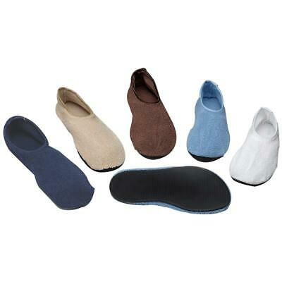 Non-Skid Slippers With Rubber Soles By Posey, #6240