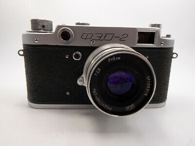 Russian Fed 2B Camera With Fed 5Cm F2.8 Lens Fully Working