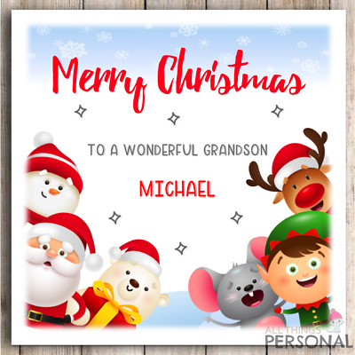 Personalised Gingerbread Christmas Card daughter granddaughter son niece nephew