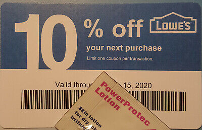 Twenty (20) LOWES Coupons 10% OFF At Competitors ONLY notAtLowes ExpJun15 2020