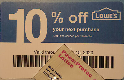 Twenty (20) LOWES Coupons 10% OFF At Competitors ONLY not AtLowes Exp Jun15 2020