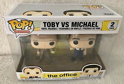 Funko Pop! The Office Toby vs Michael Vinyl Figure 2pk - See Photos of Box!!
