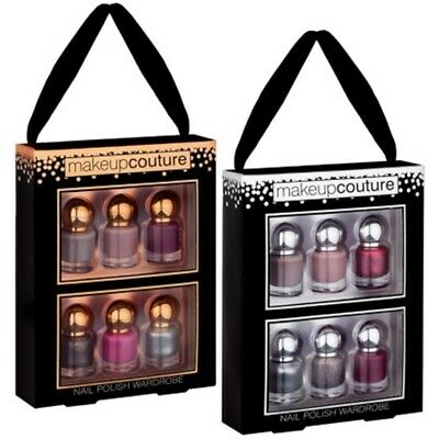 6 x Nail Polish Varnish Set Nail Art Women Make Up Couture Party Christmas Gift