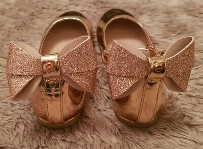 girls ted baker shoes with bow gold size 12