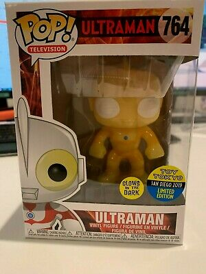2019 Sdcc Funko Pop! Toy Tokyo Ultraman Official Gitd #764 With Protector