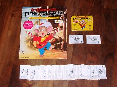 Fievel Goes West, An American Tail Complete;Empty album & all 150 loose stickers