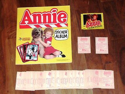 Annie Complete 1982 Panini Sticker Album, all loose stickers needed & packet