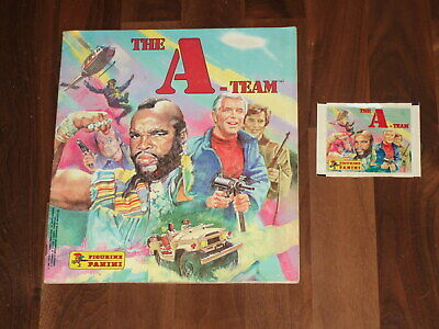 The A-Team 1983 Panini sticker album. Complete Condition & with an A-Team packet