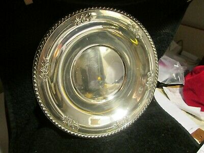 "Wallace Sterling Silver 10 1/8"" Plate Tray no. 225 gadroon  no mono  230 + gms"