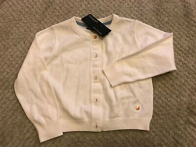 M&S Autograph Cashmere Cotton Cardigan 2-3 Years Cream White
