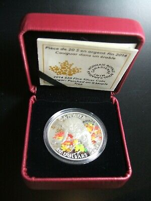 2014 Canada $20 Fine Silver Coin Cougar: Perched on a Maple Tree 1oz