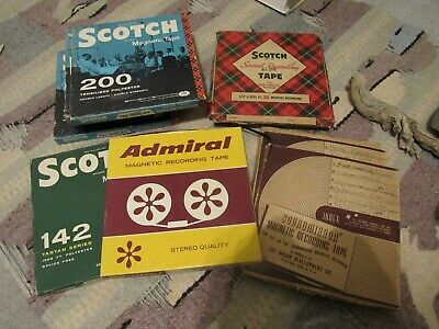 10 Vintage ~ Reel to Reel Recording Tape Scotch Magnetic - SOUNDMIRROR ADMIRAL
