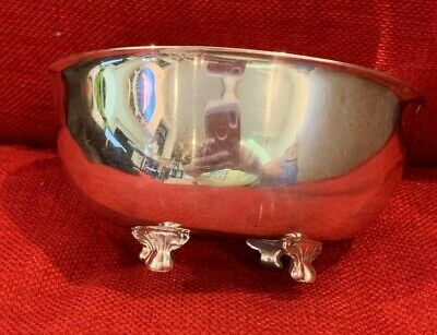 Vintage Silver Plate Footed, Lion Claw Bowl Paul Revere Tableware