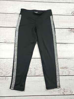 Old Navy Active Girls Legging Pants Black Fitted Mid Rise Medium Sparkle 8 K8