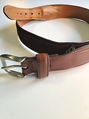 Cole Haan Mens brown leather belt size 38