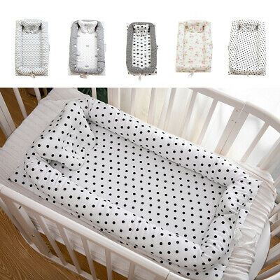 100% Cotton Baby Bassinet Bed Baby Lounger Breathable Co-Sleeping Baby Bed