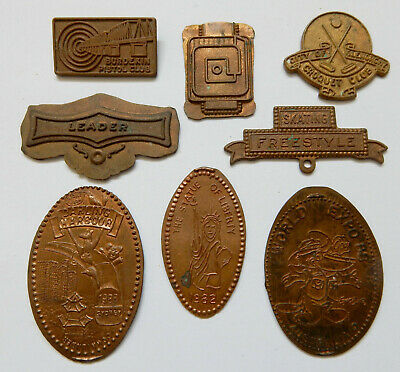 8 Badge Blanks And Pressed Souvenir Tokens